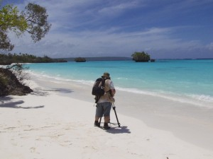 Location Shoot On A White Sand Beach, Somewhere In The Far Pacific