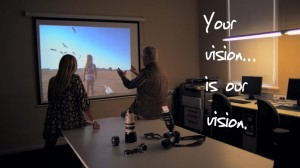 In this marketing video, a student discusses her portfolio with her tutor.