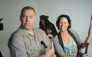 Shooting a Pirate TV Commercial