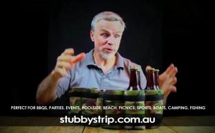 TV ad for StubbyStrip drinks cooler